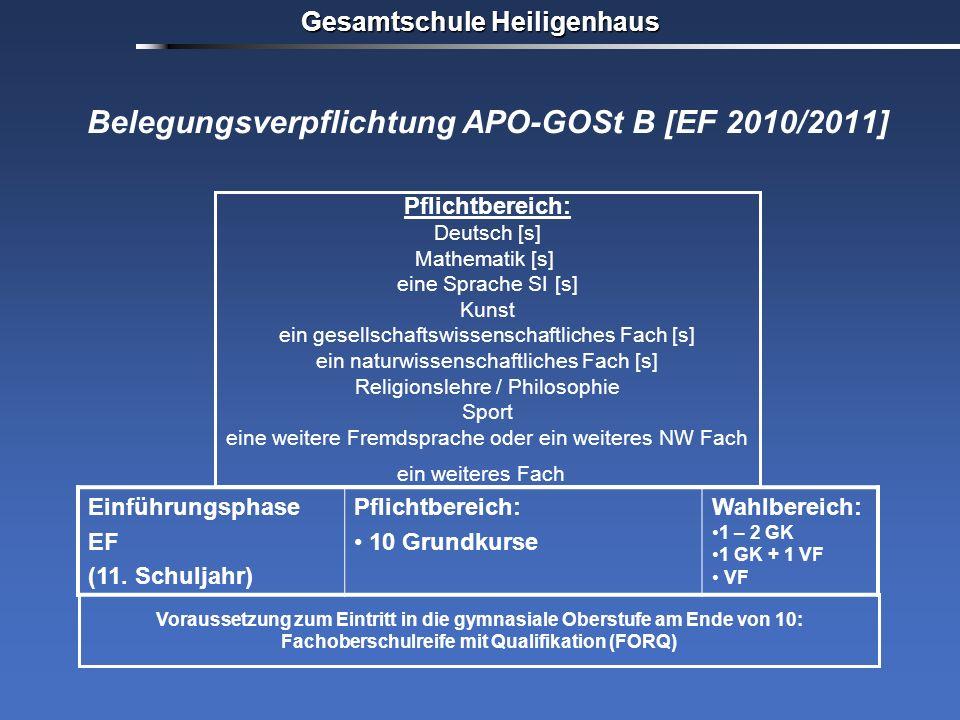 Belegungsverpflichtung APO-GOSt B [EF 2010/2011]